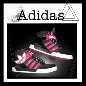 ♾Adidas hard court high top shoes